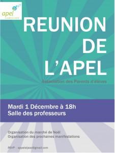 Réunion Apel 1.12.2015